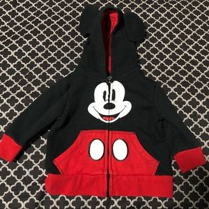 Disney Mickey Mouse Hoodie Infants 9-12 Months
